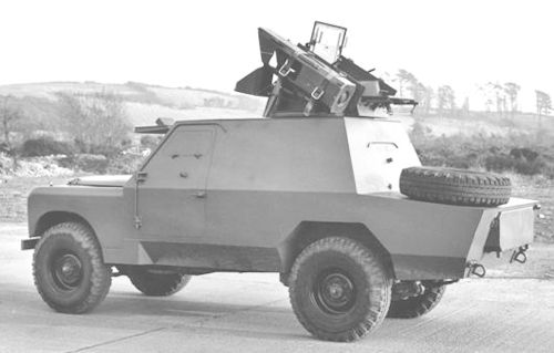 Land Rover Shorland armoured car rear