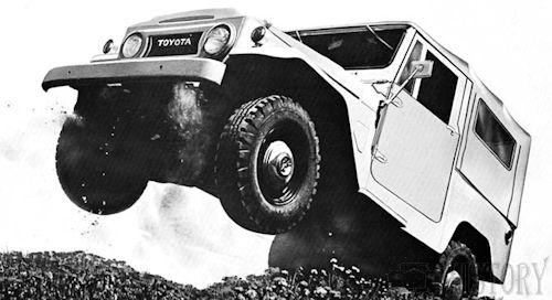 Off-road 4X4 vehicles Toyota-Land-Cruiser air