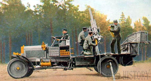 combat vehicles of World War I anti aircraft truck