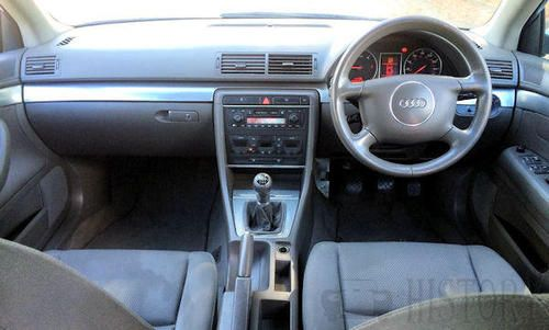 Audi A4 Second Generation B6 dash view