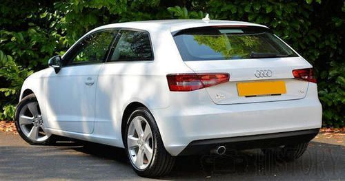 Audi A3 Third generation rear view fro 2012