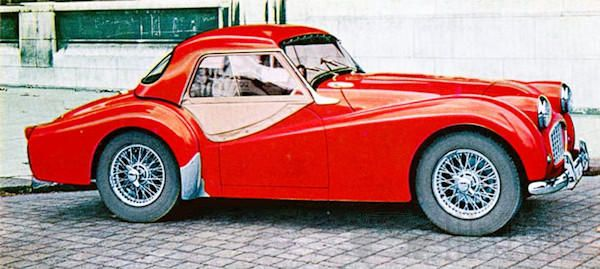 Triumph TR3 side view hard top