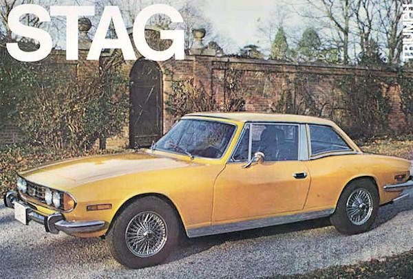 Triumph Stag 1970s Brtish cars