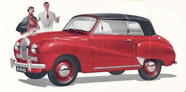 Austin A40 Somerset convertable side 1950s