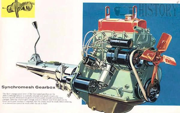 Austin A60 Cambridge engine and gearbox view
