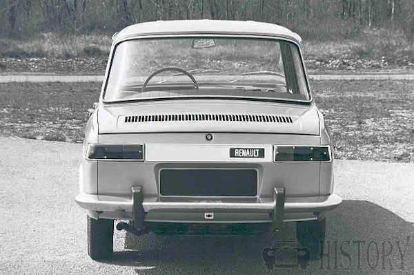 Renault 10 rear view 1960s