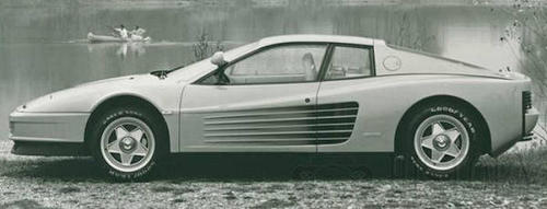 Ferrari Testarossa side view 1984