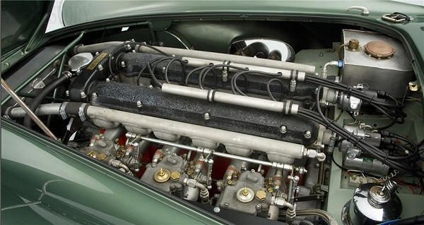 Aston Martin DB3 straight six engine