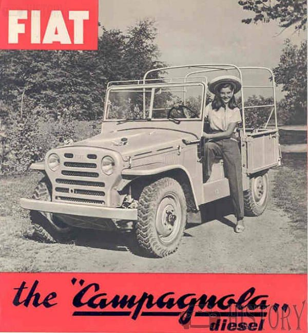 Fiat Campagnola off road jeep 1951 to 1973