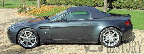 Aston Martin Vantage side view roadster