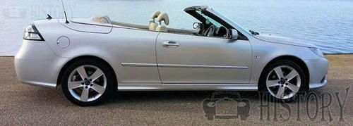 SAAB-9-3 Linear Turb0 Convertible side view 2009