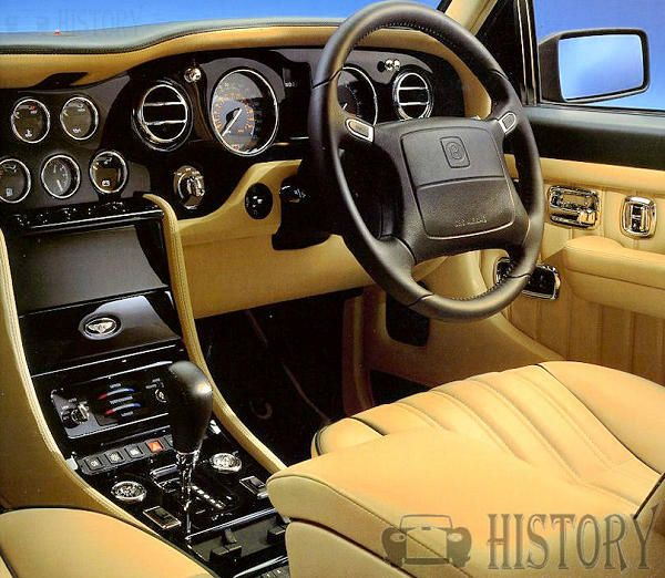 Bentley Turbo RT interior view