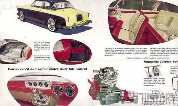 Sunbeam Rapier Series I parts from 1957