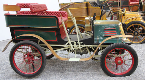 Baudier  French automobile from 1900 side view